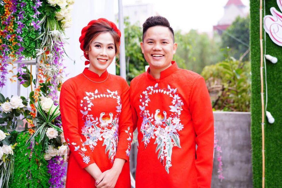 Diep und seine Frau Chuyen bei ihrer Hochzeit, Dezember 2020.